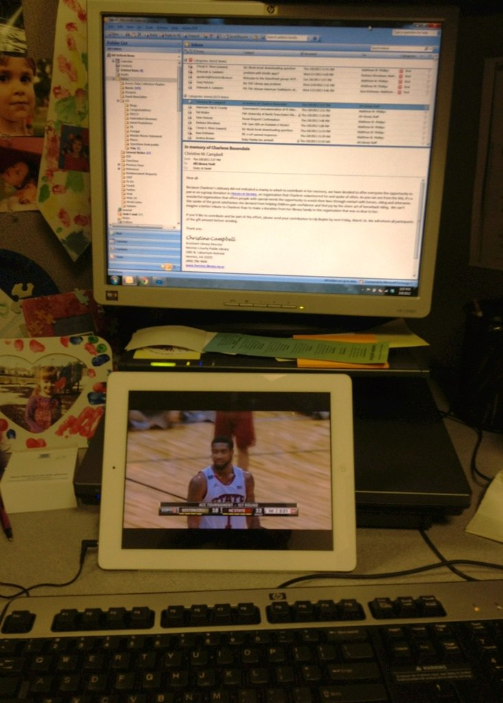 My basketball tournament desk set…